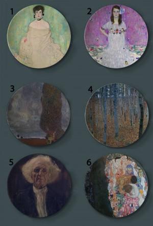 Gustav Klimt Rubens Pittura Piatti decorativi In ceramica Piatti artistici per la casa Soggiorno hotel Austria Display Piatti per pittura ad olio