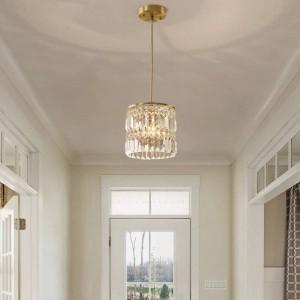 Corridoio 1-3 pezzi Lampade a sospensione in cristallo pendenti per sala da pranzo Illuminazione da cucina in rame da casa Lustre Soggiorno Barra a led Hanglamp