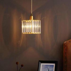 Corridoio 1 pz Mini lampada a sospensione in cristallo per cameretta Lamparas Lampada da comodino sala da pranzo E14 Led Portico Lampada da bar in cristallo chiaro