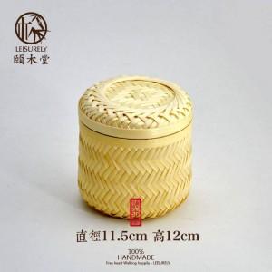 Serbatoio di bambù di bambù fatto a mano Serbatoio di tè Serbatoio di frutta secca di alta qualità Snack di bambù Cesto di stoccaggio Scatola di immagazzinaggio Barattolo