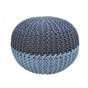 Pouf rotondo fatto a mano a punto rotondo - Pouf in cotone avvolto con poggiapiedi imbottito pouf pouf decorativo per la casa