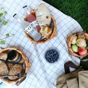 Cestini tessuti a mano in legno Verdura Frutta Pane Uova Conservazione alimenti Campeggio Picnic Snack Contenitore Borsa da cucina