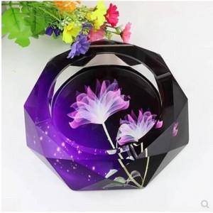 Posacenere in cristallo di alta qualità, decorazioni per la casa, articoli per la casa e l'ufficio, diametro 12 cm