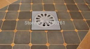 Scarico a pavimento in acciaio inossidabile di alta qualità 10 cm doccia da cucina doppio scarico a pavimento antiodore Scarico da bagno quadrato BS-9016