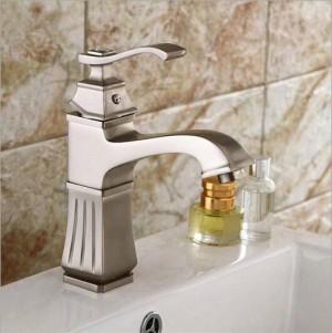 Di alta qualità spazzolato rubinetto del bacino cascata rubinetto del nichel lavandino del bagno rubinetto rubinetto miscelatore freddo e caldo rubinetto del bacino LAD-409