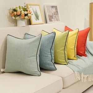 Fodera per cuscino in cotone e lino di alta qualità Fodera per cuscino in puro cotone Copridivano Cojines Decorativos Para Sofa Festival