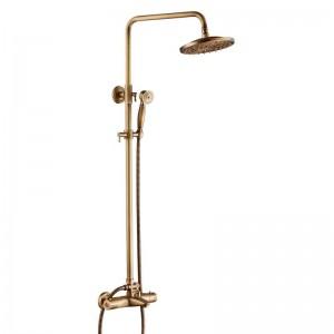 Set doccia termostatico per bagno di alta qualità Set doccia miscelatore per doccia termostatico per vasca da bagno con acqua calda e fredda XT404