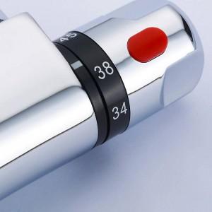 Valvola miscelatrice termostatica di alta qualità Controllo della temperatura Rubinetto per doccia Doccia Doccia Termostato Valvola a parete XR829B