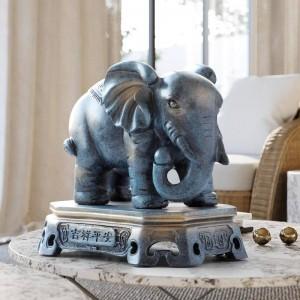 Accessori per la decorazione domestica ornamenti portafortuna coppia statuetta in resina statuetta per soggiorno ufficio tavolo per regalo