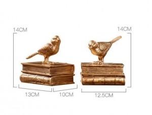 Accessori per la decorazione della casa Fermalibri moderno Fermata Fata Giardino Decorazioni per la casa d'epoca Uccello dorato Giardino in miniatura Parigi