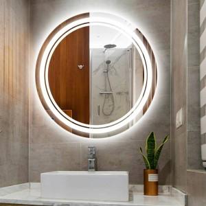 Home Lampada da parete a luce rotonda a specchio per trucco a led IP54 impermeabile Camera da bagno per hotel Lampada da parete a specchio a specchio per WC