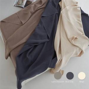 Asciugamano a strati d'aria a nido d'ape coperta doppio divano spiaggia coperta di tiro solido coperte di lusso cobertor doppie coperte per letti 3 colori