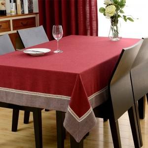 Copertura per tavolo da pranzo in ciniglia con tovaglia rettangolare calda in stile europeo per pacchetto di cuscini per armadio TV per matrimoni Elegante tovaglia