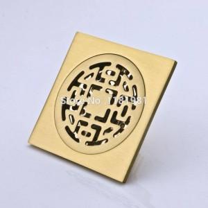 Scarico a pavimento FD-7 della doccia quadrata del bagno artistico d'ottone 10 * 10cm di vendita calda