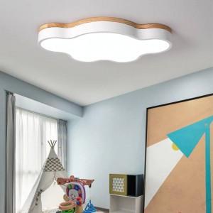 Lampade da soffitto a led sottili e calde lampade da camera moderne con lampade polarizzate a colori polararia apparecchio per bambini lampe deco con legno