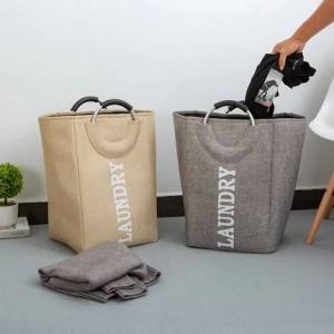 Cestello portaoggetti secchio portaoggetti giocattolo tessuto Oxford semplice per mettere il cestino portabiancheria sporca