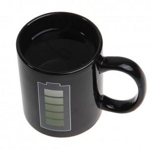 Tazza di caffè innovativa che cambia colore Tazza di ceramica Tazza di induzione termica Tazza di caffè interessante resistente al calore