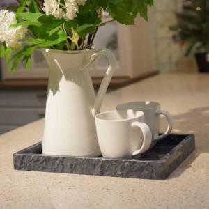 InsFashion vassoio in marmo naturale rettangolo elegante e premium per decorazioni domestiche in stile giapponese e uso in posa controllata