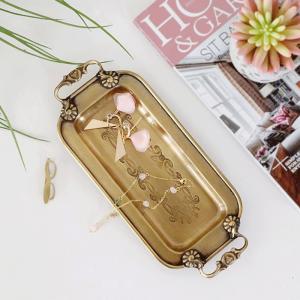 InsFashion grazioso portaoggetti per gioielli e penne in ottone fatto a mano con maniglie per arredamento moderno in stile america