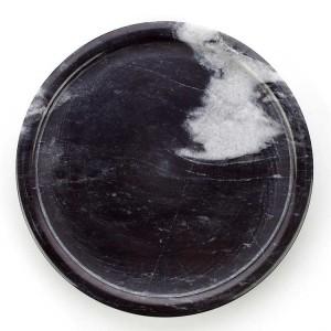 Vassoio rotondo in marmo bianco e nero stile semplice InsFashion per negozio di celebrità in stile nordico