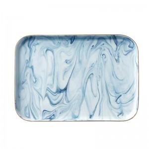 InsFashion meraviglioso cibo in ceramica con motivo in marmo per un elegante tavolo in stile nordico e uso cucina