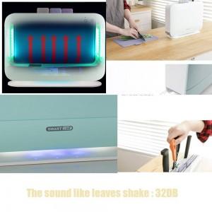 Macchina per la disinfezione dei coltelli da cucina dello sterilizzatore del tagliere elettrico UV IRANK BLANK, 3 pezzi taglieri fissati per la casa