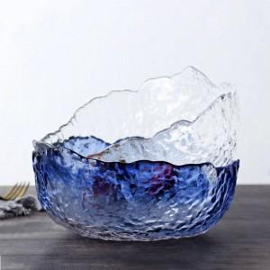 Grande ciotola di vetro trasparente giapponese a forma di insalata ciotola da dessert ciotola da zuppa resistente al calore vasellame da tavola grande