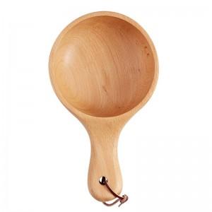Insalatiera in legno stile giapponese con manico lungo Sottaceti in legno di grandi dimensioni Servire ciotola Piatto Contenitore per alimenti Utensili da cucina in legno
