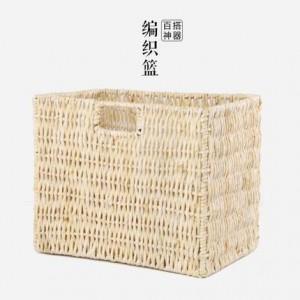 Cestino da cucina in stile giapponese fatto a mano in stile rustico con cestello da scrivania variamente cestino per esterno