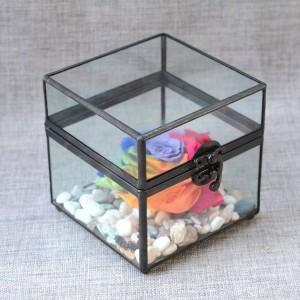 Contenitore di monili contenitore di monili artigianato di vetro regali delle coppie regali di nozze scatola di immagazzinaggio antica