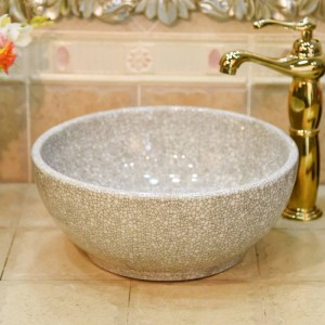 Ceramica verde crepa Piccola 30CM lavabo lavandino lavandino del bagno ciotola da appoggio lavabo in ceramica mini