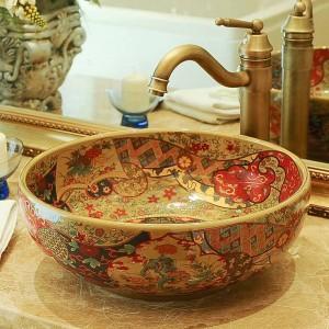 Lavandino del bagno dell'hotel Balcone artistico Lavandino Lavandino Lavandino Lavelli bagno antico lavello dipinto a mano