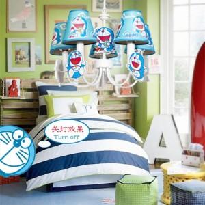 """lampada a sospensione cosplay DORAEMON per bambini in camera per bambini 19 """"LED blu Lamparas Boy Camera da letto bambino principessa led lampade a sospensione"""