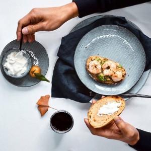Set di stoviglie in ceramica di design giapponese KINGLANG Set di piatti in porcellana Ciotola per ristorante Ciotola QINGX