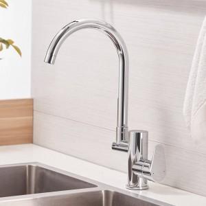 Rubinetto da cucina Rubinetto da cucina digitale Lavello ad acqua Miscelatore per lavabo Ottone Cromato Display temperato Rubinetto Smart Tap LAD-16588