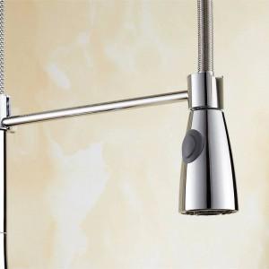 Rubinetto della cucina di nuova concezione 360 girevole in ottone massiccio monocomando miscelatore lavello rubinetto cromato acqua calda e fredda Torneira LAD-65