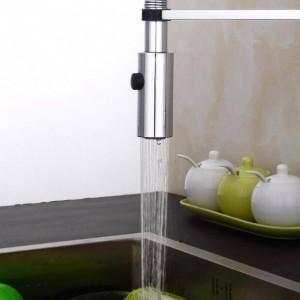 Rubinetto della cucina di nuova progettazione 360 girevole in ottone massiccio monocomando miscelatore lavello rubinetto cromato acqua calda e fredda Torneira LAD-83