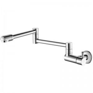 Rubinetti della cucina Rotazione a 360 gradi rubinetto a parete fredda singolo lavabo lavello rubinetto a parete rubinetto freddo Rubinetto acqua fredda singolo L-8