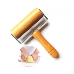 Mattarello da cucina in legno con manico Decorazione per torta fondente Rullo per impasto Cottura Attrezzi da cucina Accessori da cucina 1 pz