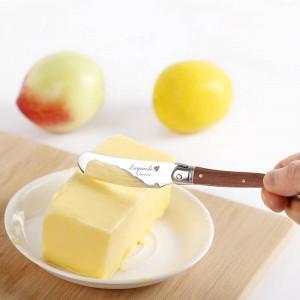Set di coltelli per spalmatori di burro stile Laguiole Coltello da formaggio in acciaio inossidabile Coltello da burro con manico in legno Posate da cucina da 6,25 ''