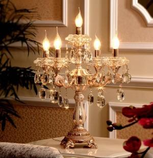 Grande candeliere in cristallo a 5 bracci candelabro a led ristorante da tavolo in oro lampada da tavolo portacandele illuminazione scrivania