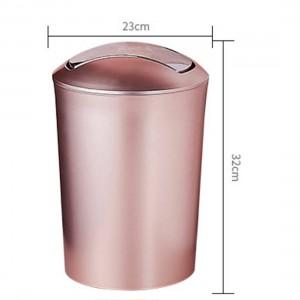 Bidone della spazzatura durevole di plastica di bidone della spazzatura durevole di stile europeo 10L di grande capacità con il coperchio Forniture delle latte di immondizia della cucina del bagno del coperchio