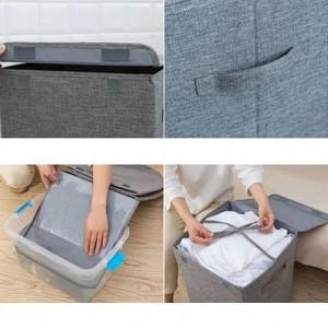 Cestello portabiancheria grande e sporco lavabile Cestino portabiancheria semplice per uso domestico Cesto porta biancheria da letto pieghevole