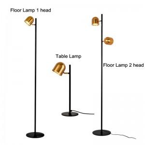 Lampada da terra a LED Lampada da terra di lusso color oro Corpo in metallo nuova lampada da tavolo moderna design semplicistico Lampada da terra novità