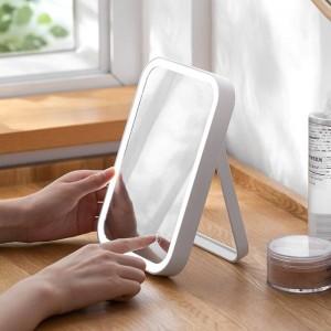 Specchio da trucco a LED per la casa specchio da tavolo ricaricabile specchio da trucco pieghevole da tavolo con luce wx11271135