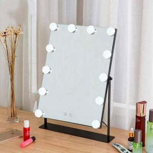 Specchio cosmetico a led da tavolo per ragazze con specchio grande da trucco bianco con luci touch fill light specchio cosmetico dormitorio mx01111356
