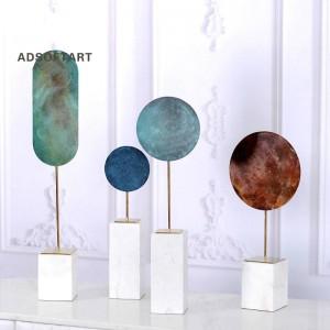 Decorazione creativa di lusso leggera Gioielli in patina di metallo Moderno minimalista per la casa Soggiorno Portico Modello Decorazione