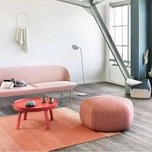 Poggiapiedi per sedia bassa con rivestimento in tessuto
