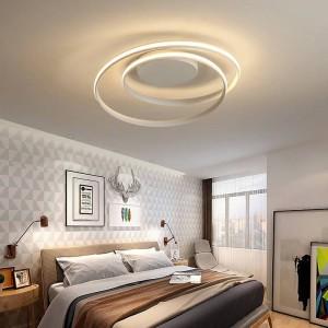 Plafoniere a LED lucenti per soggiorno studio camera da letto Home Deco AC85-265V plafoniera moderna bianca a plafone