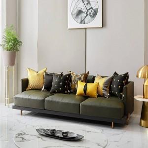 Lusso ape ricamo cuscino cuscino donne per la casa oro nero cuscini di tiro copre cojines decorativos para divano coussin